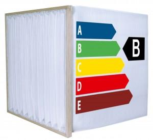 Taschenfilter mit Energieeffizienz B